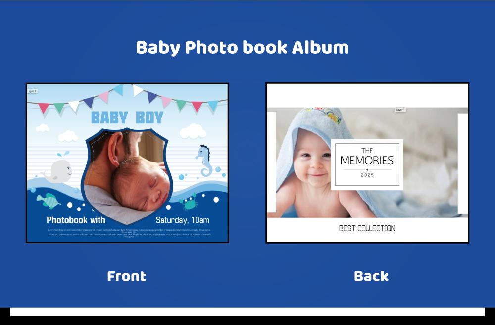 Baby_photobook a04-p12 11x8inch