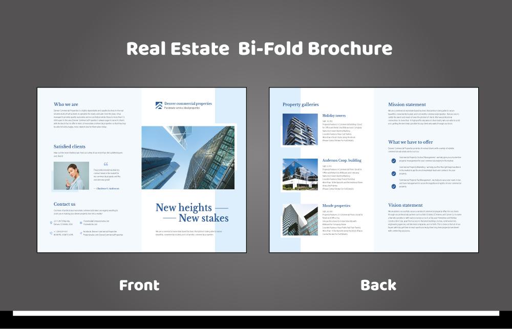 Commercial Realestate Bi-Fold Brochure 6-01
