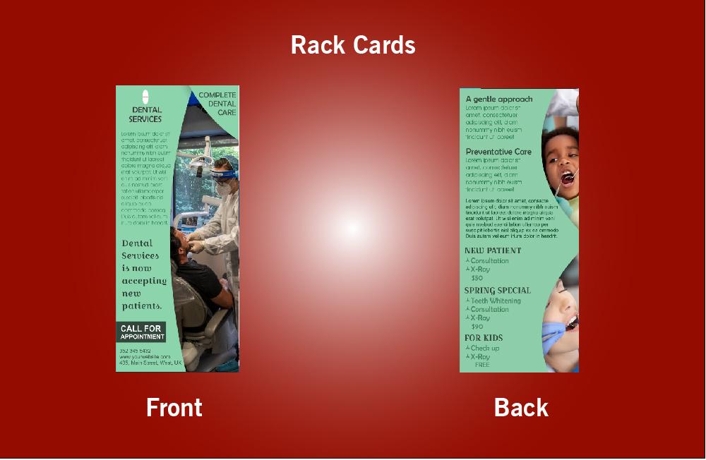 Dental Services Rack Card - 39 (4x9)