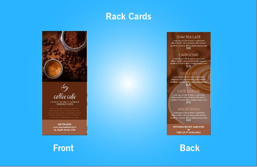 Coffee Cafe Rack Card - 41 (4x9)