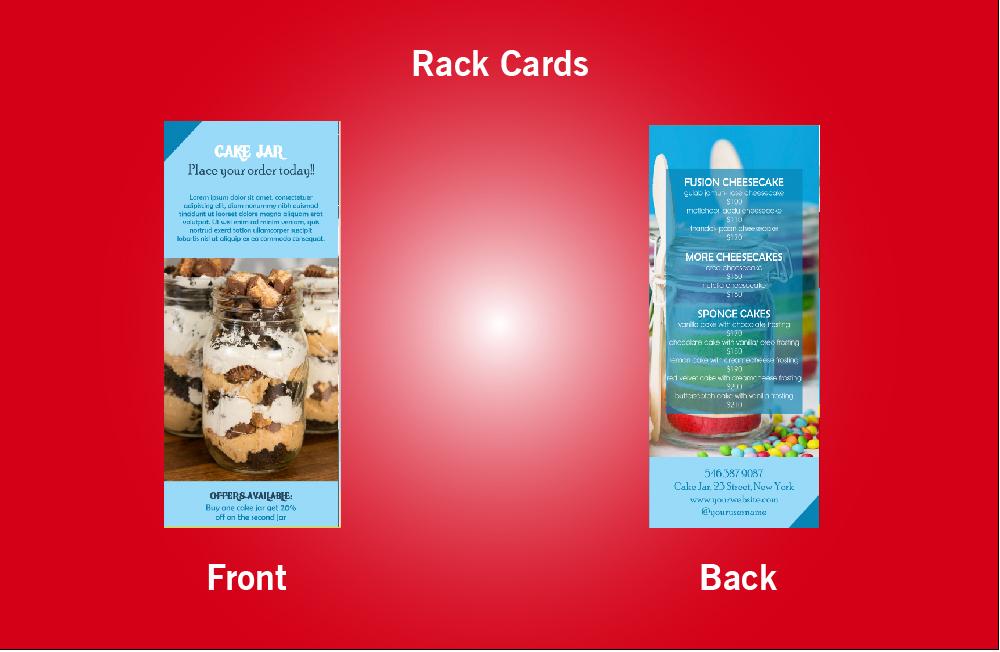 Cake Jar Rack Card - 46 (4x9)