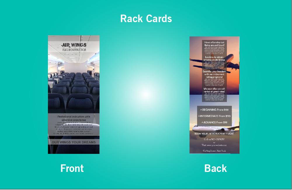 Air Wings Flight Instructor Rack Card - 47 (4x9)