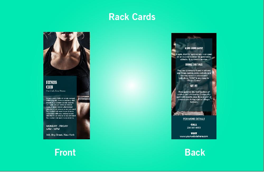 Fitness Club Rack Card - 49 (4x9)