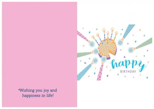 Happy Birthday Cake Card 1
