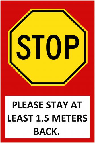 Stop Sign ( 36x24 )