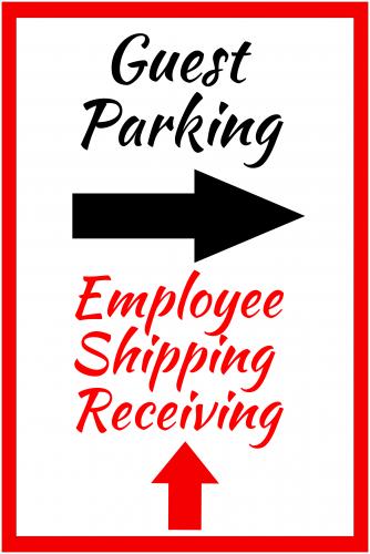 Guest Parking Sign 1 ( 36x24 )