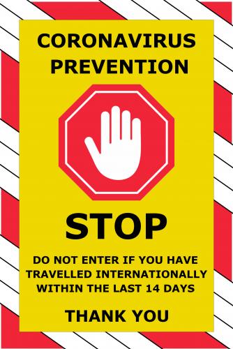 Corona Virus Sign ( 36x24 )