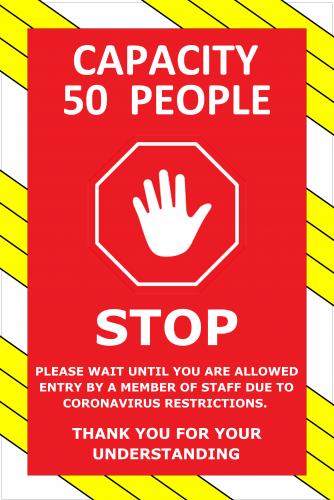 Corona Virus Stop Sign ( 36x24 )