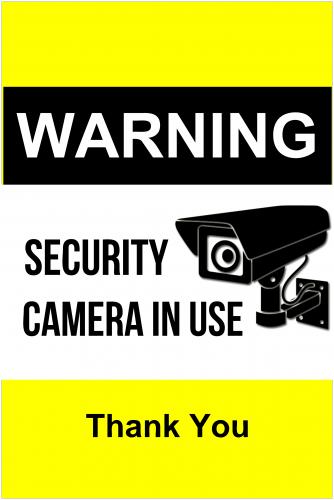 Security Camera Sign ( 36x24 )