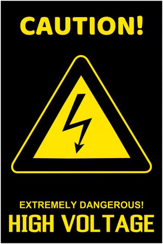 High Voltage Caution Sign ( 36x24 )