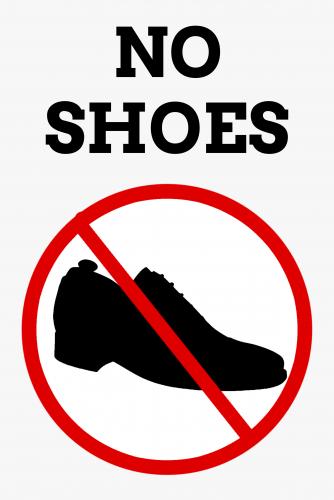No Shoes Sign ( 36x24 )