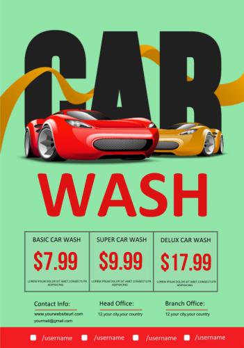 Car Wash Service Flyer