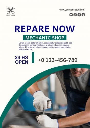 Mechanic Automobile Flyer