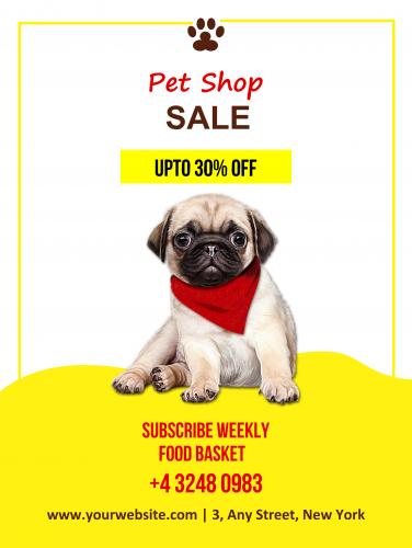 Pet Shop Sale Poster - 44 (18x24)