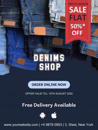 Denim Shop Sale Poster - 45 (18x24)