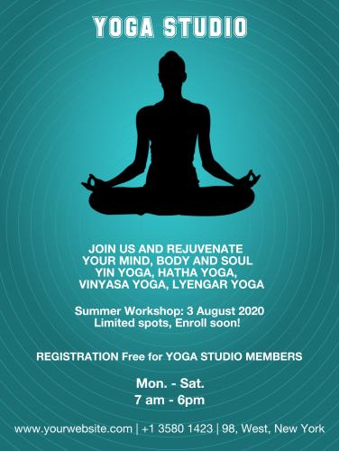 Yoga Studiio 2 Poster - 46 (18x24)