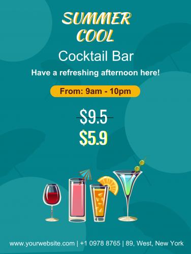 Summer Cocktail Bar Poter - 50 (18x24)