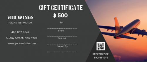 Air Wings Gift Certificate