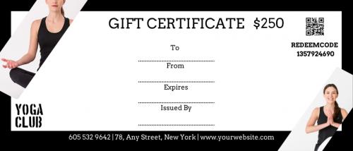 Yoga Gift Certificate