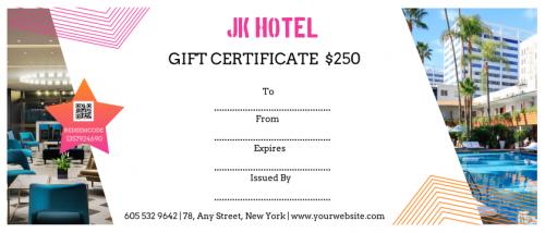 Jk Hotel Gift Certificate