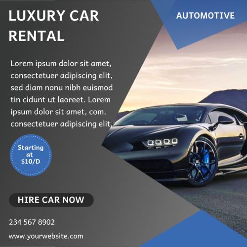 Luxury Car Rental Automotive (1080x1080)
