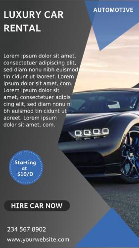 Luxury Car Rental Automotive (1080x1920)