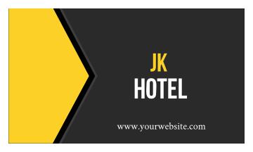 Jk Hotel Business Card