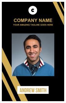 Company Name I'd Card