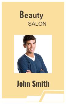 Beauty Salon I'd Card