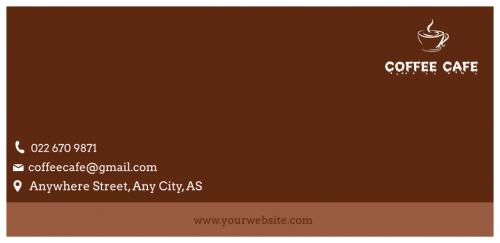 Coffee Cafe Envelope