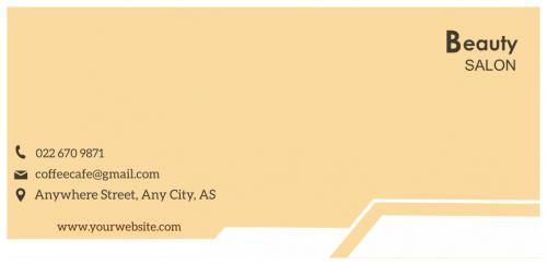 Beauty Salon Envelope