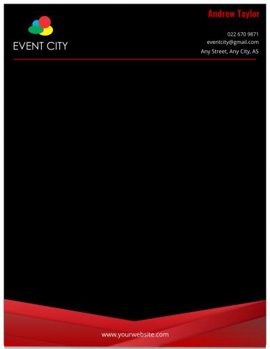 Event City Letterhead