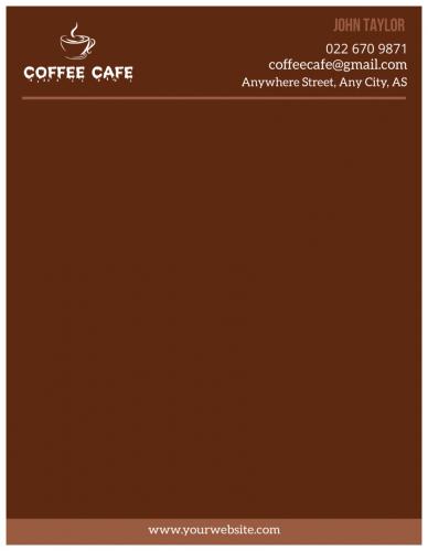 Coffee Cafe Letterhead