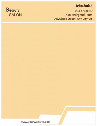 Beauty Salon Letterhead