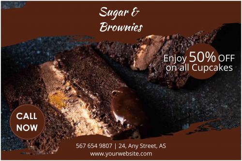 Sugar & Brownies Cupcakes Banners