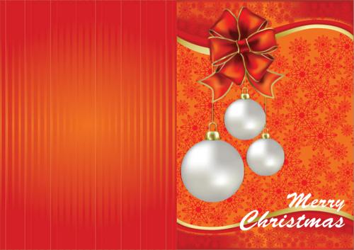 Orange Christmas card