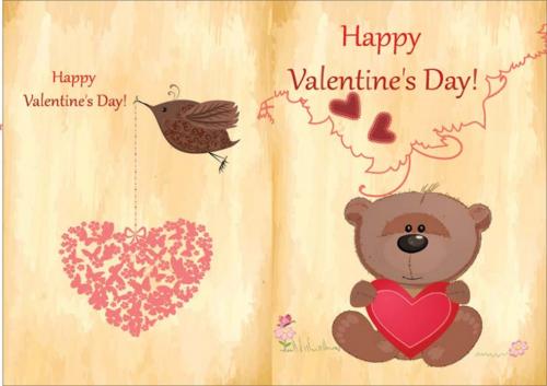 teddy bear valentine card