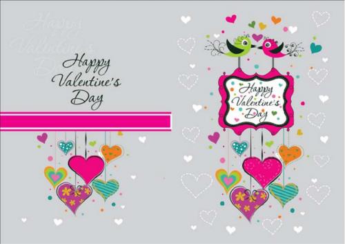 Birds valentine card