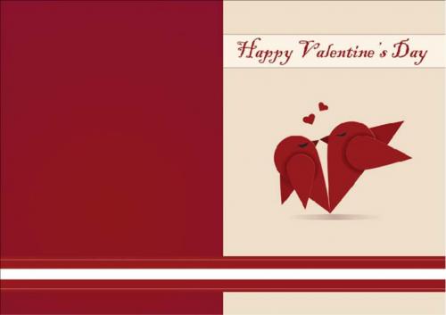 Red Bird valentine card