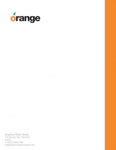 Orange Letterhead