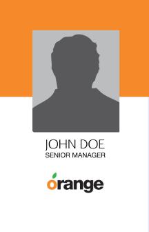 Orange ID Card