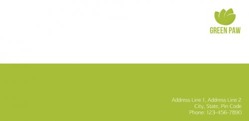 Green paw  envelope
